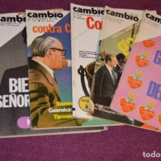 Coleccionismo de Revista Cambio 16: LOTE 6 REVISTAS CAMBIO 16 / CAMB16 - AÑOS 70 Y 80 - PERIODO POLITICO Y SOCIAL MUY INTERESANTE - L03. Lote 89215596