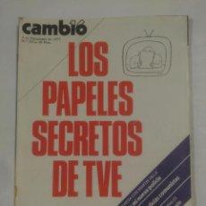 Coleccionismo de Revista Cambio 16: REVISTA CAMBIO 16. Nº 313. 5 - 11 DE DICIEMBRE 1977. LOS PAPELES SECRETOS DE TVE. TDKR39. Lote 125099539