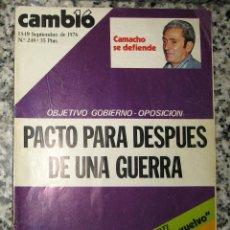 Coleccionismo de Revista Cambio 16: CAMBIO 16 SEPTIEMBRE 1976. Nº 249. Lote 95287223