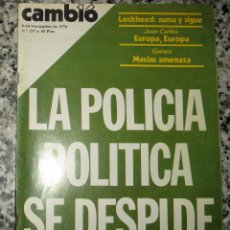 Coleccionismo de Revista Cambio 16: CAMBIO 16 NOVIEMBRE 1976. Nº 257. Lote 95287327