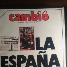 Coleccionismo de Revista Cambio 16: REVISTA CAMBIO 16. 17 DE MARZO DE 1986. Lote 97872295