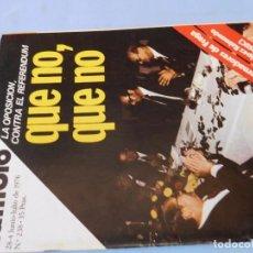 Coleccionismo de Revista Cambio 16: CAMBIO 16. 1978. PUNTOS DE VISTA SOBRE EL REFERENDUM . Lote 99398675