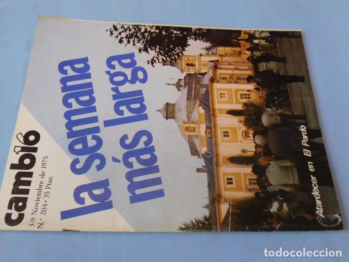 NÚMERO EDITADO EN PLENA AGONIA DE FRANCO (Coleccionismo - Revistas y Periódicos Modernos (a partir de 1.940) - Revista Cambio 16)