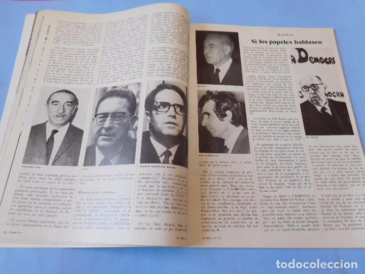 Coleccionismo de Revista Cambio 16: Número editado en plena agonia de Franco - Foto 5 - 99400331