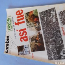 Coleccionismo de Revista Cambio 16: NÚMERO DE LA SEMANA SIGUIENTE A LOS FUSILAMIENTOS DE MANZANARES, CON REACCIONES MUNDIALES.. Lote 99400959