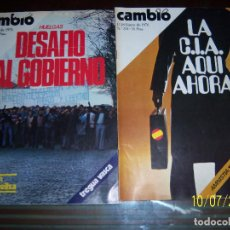 Coleccionismo de Revista Cambio 16: 2 EJEMPLARES CAMBIO 16, 12-18 ENERO 1976 Nº 214 Y 19-25 ENERO 1976 Nº 215. Lote 100227579
