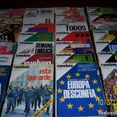 Coleccionismo de Revista Cambio 16: 26 EJEM.CAMBIO 16, 29-04 ENE1976 Nº212 HASTA 5 JUL1976 Nº 293.FALTA Nº 226,232 EJEM. SUELTO 2 EUROS. Lote 100228987