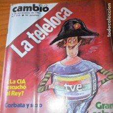 Coleccionismo de Revista Cambio 16: CAMBIO 16 Nº 518 DE 1981- ESPECIAL TVE, GRAHAN GREENE, ETA, FRAGA, PSOE, MIGUEL RIOS, POLONIA, Y ++. Lote 100756899
