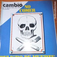 Coleccionismo de Revista Cambio 16: CAMBIO 16 Nº 507 DE 1981- CALVO SOTELO, MANUEL FRAGA, GIRON DE VELASCO, REVISTA LA CODORNIZ, Y ++. Lote 100757471