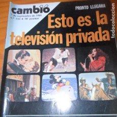 Coleccionismo de Revista Cambio 16: CAMBIO 16 Nº 510 DE 1981- LA TV PRIVADA, LUCHA LIBRE ESPAÑOLA, UCD, IRAN JOMEINI, COMIC MEXICANO, ++. Lote 100905399