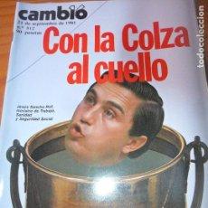 Coleccionismo de Revista Cambio 16: CAMBIO 16 Nº 512 DE 1981- COLZA, FELIPE GONZALEZ, SHERRY, ROGER MOORE, GUERNICA, IRAN, 1º DIVORCIO +. Lote 100908043