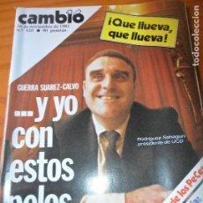 Coleccionismo de Revista Cambio 16: CAMBIO 16 Nº 520 DE 1981- GUERRA SUAREZ-CALVO SOTELO, CONSERVAS GALLEGAS, OLOT, VARGAS LLOSA, +. Lote 100914787