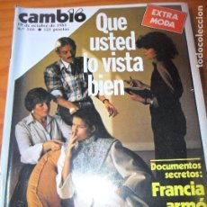 Coleccionismo de Revista Cambio 16: CAMBIO 16 Nº 516 DE 1981- MODA, ETA, OTAN, MUBARAK, INDIANA JONES, AMPARO RIVELLES, HILDERS, Y ++. Lote 100916495