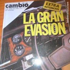 Coleccionismo de Revista Cambio 16: CAMBIO 16 Nº 501 DE 1981- ESPECIAL AUTOMOBILES SEAT PANDA... GOPLE 23J, SAN FERMIN, PACTO AUTONOMIC. Lote 100944067