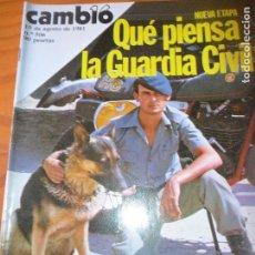 Coleccionismo de Revista Cambio 16: CAMBIO 16 Nº 506 DE 1981- GUARDIA CIVIL, SANTIAGO CARRILLO, SANTANDER, SERRAT, MANOLO ESCOBAR, FIDEC. Lote 100945627