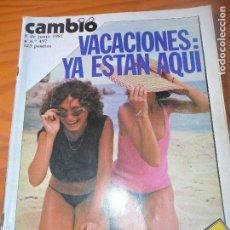 Coleccionismo de Revista Cambio 16: CAMBIO 16 Nº 497 DE 1981- VACACIONES, CALVO SOTELO, ROJAS MARCOS, MASONES, CARMEN MAURA, Y+++. Lote 100948499