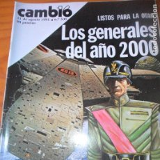 Coleccionismo de Revista Cambio 16: CAMBIO 16 Nº 509 DE 1981- GENERALES DEL AÑO 2000, NUEVOS ROMANTICOS, ALASKA, BIBI ANDERSEN PAOLA DOM. Lote 100973639