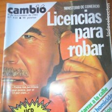 Coleccionismo de Revista Cambio 16: CAMBIO 16 Nº 519 DE 1981- UCD, ETA, OTAN, FESTIVAL DE CINE DE SEVILLA, Y ++. Lote 100976155