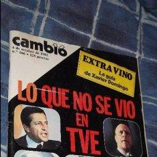 Coleccionismo de Revista Cambio 16: CAMBIO 16 ,Nº 566 , AÑO 1982 - EL TRIUNFO DE LA DEMOCRACIA -ETA -SUAREZ Y CARRILLO -BEIRUT -USA. Lote 103583091