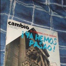 Coleccionismo de Revista Cambio 16: REVISTA CAMBIO 16. Nº 259. 22 - 28 NOVIEMBRE 1976. YA HEMOS PASAO, EL GOBIERNO ESTA SEGURO.. Lote 103583415