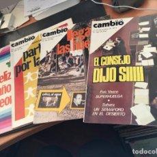 Coleccionismo de Revista Cambio 16: CAMBIO 16 LOTE Nº 160, 161, 162 Y 163. DICIEMBRE 1974 ENERO 1975 (COI52). Lote 105530555