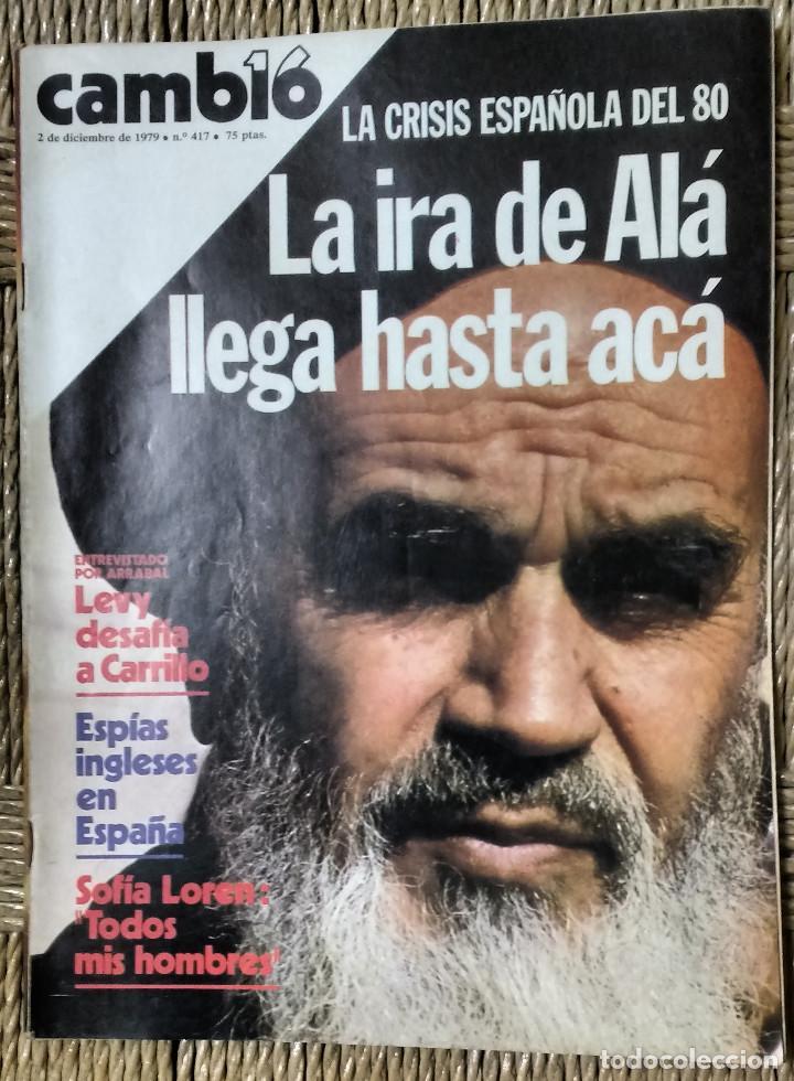 CAMBIO 16 Nº 417-1979 - LEVY CARRILLO-CASO RUPEREZ-MANUEL RODRIGUEZ DELGADO-SOFIA LOREN-RAIMON-DODGE (Coleccionismo - Revistas y Periódicos Modernos (a partir de 1.940) - Revista Cambio 16)