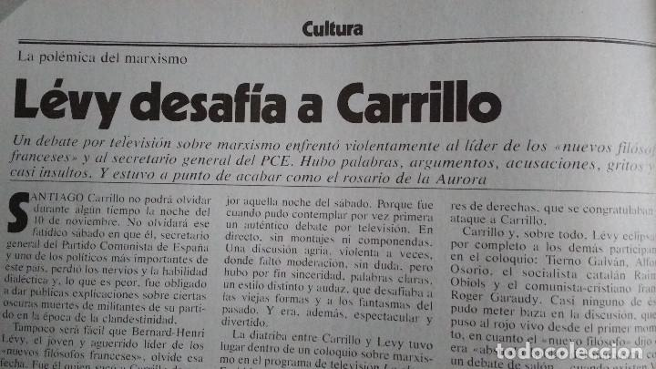 Coleccionismo de Revista Cambio 16: CAMBIO 16 Nº 417-1979 - LEVY CARRILLO-CASO RUPEREZ-MANUEL RODRIGUEZ DELGADO-SOFIA LOREN-RAIMON-DODGE - Foto 14 - 112469987