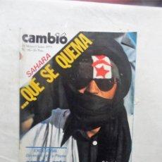 Coleccionismo de Revista Cambio 16: REVISTA CAMBIO16 - SAHARA .... QUE SE QUEMA 26 DE MAYO - 1 JUNIO DE 1975 Nº 181. Lote 112543255