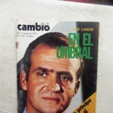 Coleccionismo de Revista Cambio 16: REVISTA CAMBIO16 - JUAN CARLOS EN EL UMBRAL 16 - 22 DE JUNIO DE 1975 Nº 184. Lote 112543863