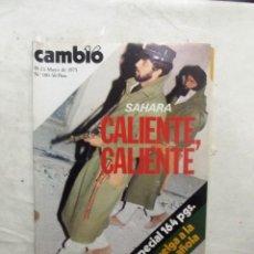 Coleccionismo de Revista Cambio 16: REVISTA CAMBIO16 - SAHARA CALIENTE CALIENTE 19 - 25 DE MAYO DE 1975 Nº 180. Lote 112544843