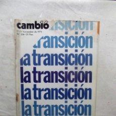 Coleccionismo de Revista Cambio 16: REVISTA CAMBIO16 - LA TRANSICION 17 - 23 DE NOVIEMBRE DE 1975 Nº 206. Lote 112544991