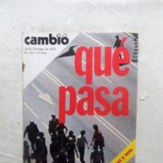 Coleccionismo de Revista Cambio 16: REVISTA CAMBIO16 - QUE PASA 20 - 26 DE OCTUBRE DE 1975 Nº 202. Lote 112545199