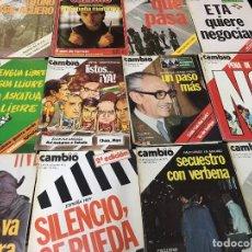 Coleccionismo de Revista Cambio 16: LOTE 15 REVISTAS CAMBIO 16 - AÑOS 1975, 1976 Y 1984 BUEN ESTADO . Lote 113177239