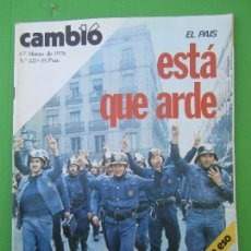 Coleccionismo de Revista Cambio 16: CAMBIO 16 , 1-7 MARZO 1976 , 221 , EL PAIS ESTA QUE ARDE , SAHARA , BARCELONA , BOMBEROS EN HUELGA. Lote 113254471