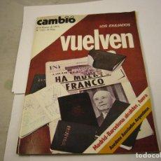 Coleccionismo de Revista Cambio 16: CAMBIO 16. NUMERO 226. AÑO 1976. LOS EXILIADOS VUELVEN. Lote 113316535