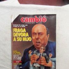 Colecionismo da Revista Cambio 16: REVISTA CAMBIO16 - FRAGA DEVORA A SU HIJO 15 DE SEPTIEMBRE 1986 Nº 772. Lote 114295775