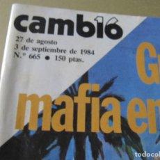 Coleccionismo de Revista Cambio 16: CAMBIO 16 8/1984 UN DOS TRES VICTORIA VERA MONTSERRAT CABALLE STEVIE WONDER LA EDAD DE ORO MAYRA GO. Lote 114317803