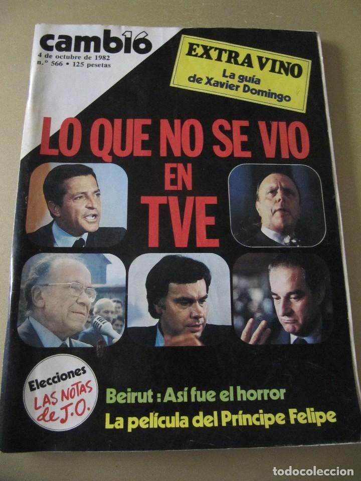 CAMBIO 16 OCTUBRE 1982 EXTRA VINO MURILLO MOVIDA MADRILEÑA ALASKA (FANGORIA) (Coleccionismo - Revistas y Periódicos Modernos (a partir de 1.940) - Revista Cambio 16)
