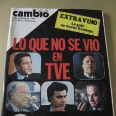 Coleccionismo de Revista Cambio 16: CAMBIO 16 OCTUBRE 1982 EXTRA VINO MURILLO MOVIDA MADRILEÑA ALASKA (FANGORIA). Lote 114318191