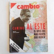 Coleccionismo de Revista Cambio 16: REVISTA CAMBIO 16 990 12 NOVIEMBRE 1990 CAMINO AL ESTE EL OPUS DE MÁS FUERTEMENTE QUE NUNCA. Lote 115591259