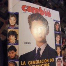 Coleccionismo de Revista Cambio 16: AÑO 1986 / FELIPE VI Y SU GENERACION - MUERTE DE TIERNO GALVAN . Lote 116839939