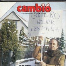 Coleccionismo de Revista Cambio 16: REVISTA CAMBIO 16 Nº 732 AÑO 1985. JOSE MARIA RUIZ MATEOS.TORRENTE BALLESTER. MARTA BRUGUERA. . Lote 119910215