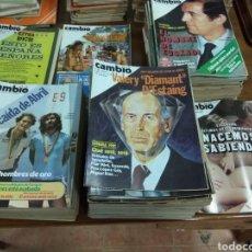 Coleccionismo de Revista Cambio 16: ENORME LOTE CAMBIO 16. AÑOS 77, 78,79,80,81,82. 85 EJEMPLARES. Lote 119989091