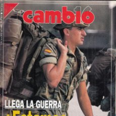 Colecionismo da Revista Cambio 16: REVISTA CAMBIO 16 Nº 984 AÑO 1990. LLEGA LA GUERRA, ESTAMOS PREPARADOS. . Lote 119996591