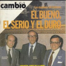 Colecionismo da Revista Cambio 16: REVISTA CAMIO16 Nº 459 AÑO 1980. FERNANDEZ ORDOÑEZ, CALVO SOTELO. MARTIN VILLA. SUAREZ. . Lote 120067035
