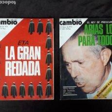 Coleccionismo de Revista Cambio 16: CAMBIO 16. NÚM. DISPONIBLES ENTRE 1975 Y 1979.. Lote 120308712