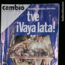 Coleccionismo de Revista Cambio 16: F1 CAMBIO 16 Nº 369 AÑO 1978 TVE VAYA LATA!. Lote 123420095