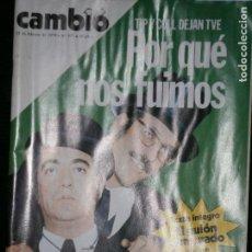 Coleccionismo de Revista Cambio 16: F1 CAMBIO 16 Nº 377 AÑO 1979 TIP Y COLL DEJAN TVE POR QUE NOS FUIMOS. Lote 123421559