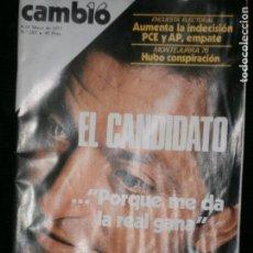 Coleccionismo de Revista Cambio 16: F1 CAMBIO 16 Nº 283 AÑO 1977.EL CANDIDATO PORQUE ME DA LA GANA. Lote 123422787