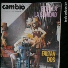 Coleccionismo de Revista Cambio 16: F1 CAMBIO 16 Nº 358 AÑO 1878 LA ESPAÑA INMORAL.. Lote 123425747